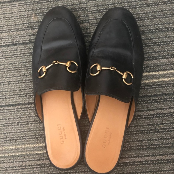 Gucci Shoes - GUCCI Women's Princetown leather slipper (black)